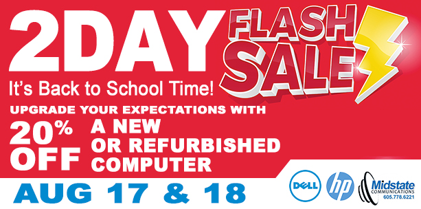 2 Day Back to School Computer Flash Sale